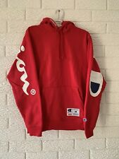 Supreme x Champion RED Hoodie Hooded Sweatshirt SS18 Brand New Size Medium M