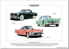 FORD THUNDERBIRD - 1955-1957 - Fine Art Print - US American T-Bird picture image