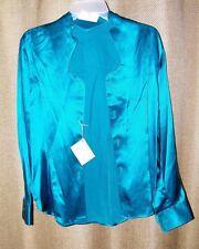 Stubbs Women's Blue Jewel Long Sleeve Western Wear Shirt NWT No Buttons Sz M
