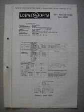 LOEWE OPTA Typ 42029 Gotland II Stereo Service Manual, Stand 05/63