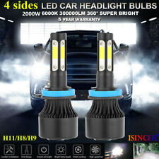 4-Side H11 LED Headlight H8 H9 Kits 2800W 380000LM Bulbs Power 6000K White Best