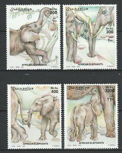 Somalia 2000 Fauna, Animals, Elephants 4 MNH stamps