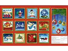 HOLIDAY TREASURE CHRISTMAS FABRIC BOOK AND WALLHANGING PANEL
