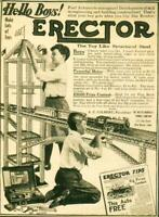 Advertising Toy Steel Erector Set A.C.Gilbert The Mysto Mfg Co New Haven 1915