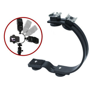 C-Shaped C Holder Bracket Mount for Flash LED Video Light DSLR Camera Camcorder