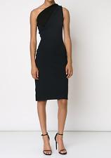 NWT $2215 Christopher Kane Black Fitted Off-shoulder Dress Size UK14 US10 EU42
