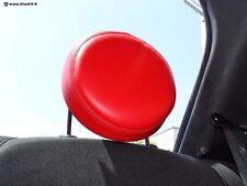 Couverture appuie-tête rosso fil rouge pour Fiat 500