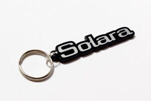 Talbot Solara Keyring - Brushed Chrome Effect Classic Car Keytag / Keyfob
