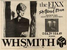 "12/6/82PGN14 ALBUM ADVERT 7X11"" THE FIXX : SHUTTERED ROOM"