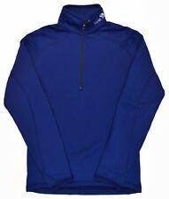Mountain Hardwear Mens Blue Poly Tech Fleece Lined Half Zip Sweater Medium