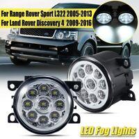 12V Anteriore 9 LED Luci Fendinebbia per Land Rover Discovery 4 / Range Sport