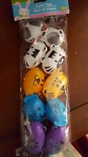 8 Plastic Easter Treat Eggs  Animals Safari  Lions Tigers Elephants & Monkeys