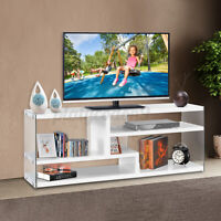 Use 8mm Acrylic 51'' TV Stand Cabinet Console Media Storage Entertainment Center