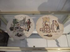 2 assiettes faience Sarreguemines Enfants Richard