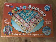 Rechen - Domino, vier verschiedene Rechen-Dominos, noris Spiel