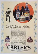 1924 AD(H24)~THE CARTER'S INK CO. CARTER'S FOUNTAIN PEN INK