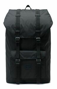 Herschel Little America Light Backpack Freizeitrucksack Schwarz Neu