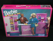 Nos Vintage 1995 Mattel Barbie So Much To Do! Bank Playset Nib New Sealed in Box