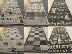 Küchen Läufer Allzweck Teppich Küchenteppich 67 x 180 cm 6 versch. Designs