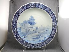 """Vintage Delft Charger Plate Royal Sphinx Maastricht Holland Windmill 15 3/4"""""""