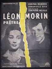 Léon Morin Prêtre, Jean -Paul Belmondo, Emmanuelle Riva, Original poster, #32