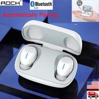 ROCK True Wireless Stereo Earphones Bluetooth 5.0 Earbuds Headset Headphones NEW