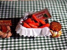 1:24 Holzkiste Karotten randvoll/Kaufladen/Marktstand//Catrichen 1:24