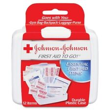 NEW Johnson & Johnson First Aid Kit To Go! Mini 12 piece Clean & Protect