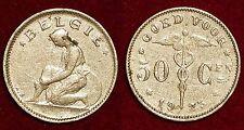 50 centimes 1923 flemish legend Albert I BELGIUM Belgique België
