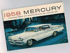 1958 MERCURY Brochure: PARK LANE,MONTCLAIR,MONTEREY,BIG M Station Wagon,VOYAGER,