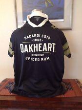 Bacardi Oakheart Rum Sports Jersey Men's Medium Black