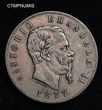 ITALIE 5 LIRE ARGENT 1877 R ROME