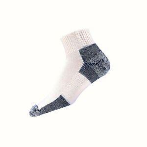 thorlos Jmx Max Cushion Running Ankle Socks Large White/Navy