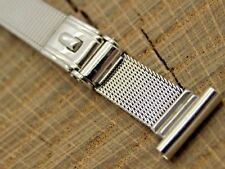 Stainless Steel Vintage Watch Band 13mm Sliding Clasp Forstner NOS Unused Long