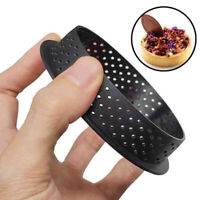 1/2pc Cake Mold Perforated Cutter Round Shape Mousse Circle Ring Tart Decorating