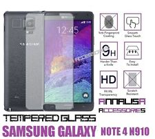 PELLICOLA IN VETRO TEMPERATO PER SAMSUNG GALAXY NOTE 4 N910F TEMPERED GLASS