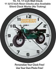 Rokon Scout Motorcycle Wall Clock-Free US Ship, Yamaha, Honda