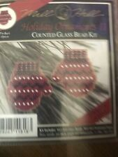Mill Hill Beaded Cross Stitch Kit Holiday Ornaments II Mittens H18