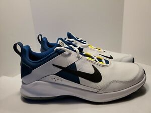 Nike AIR MAX Mens Size 12 Alpha Trainer Shoes Running White Blue AT1237-100