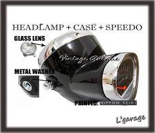 *HONDA DAX ST50 ST70 CT50 K0 CT70 K0 HEAD LIGHT+SPEEDOMETER+CASE *G-BLACK [V]