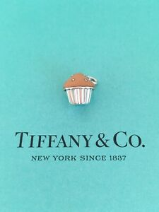 Tiffany & Co Pink Enamel Cupcake  Charm Pendant For Necklace, Bracelet RRP $415