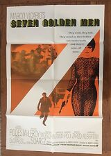 "Seven Golden Men Original U.S. One-Sheet Movie Poster 1968 27"" x 41"" Vintage"
