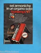 TOP972-PUBBLICITA'/ADVERTISING-1972- BONTEMPI - HIT ORGAN ELECTRIC (versione B)