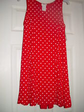 Bentley Red With White Polka Dot  Dress Size 9/10 From Kmart