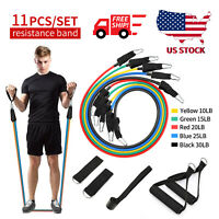 Resistance Bands Workout Exercise Yoga Crossfit Fitness Training Tubes-11 pcs