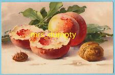 A/S Catherine KLEIN Peaches ~ Dondorf Ser. 811 ~ Vintage CHROMO Postcard ~ EX