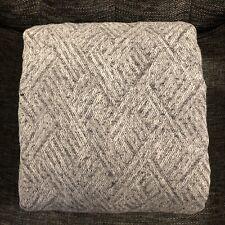 Restoration Hardware Herringbone Jacquard Linen Cal King Duvet Cover, Black