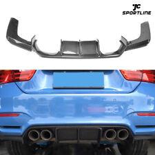 for BMW F80 M3 F82 M4 2015-19 Rear Bumper Diffuser Spoiler Bodykit Carbon Fiber