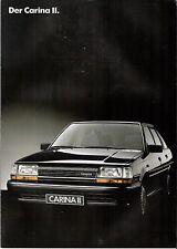 Prospekt / Brochure Toyota Carina II 03/1986