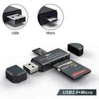 Micro USB OTG to USB 2.0 Adapter SD Micro SD Card Reader with standard USB- M5M9